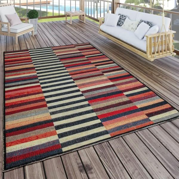 In- & Outdoor Teppich Modern Boho Muster Terrassen Teppich Wetterfest Bunt