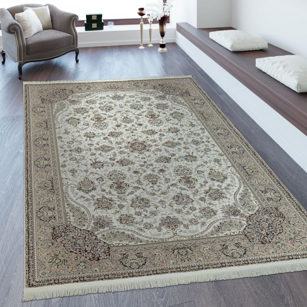 Orientteppich Persisches Muster Creme Braun